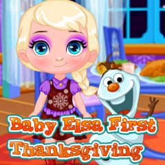 Baby Elsa First Thanksgiving
