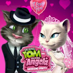 Talking Tom and Talking Angela Wedding Party