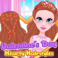 Valentine's Day Hearty Hairstyles