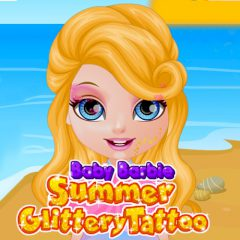 Baby Barbie Summer Glittery Tattoo