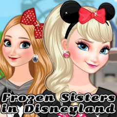 Frozen Sisters In Disneyland