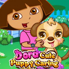 Dora Cute Puppy Caring