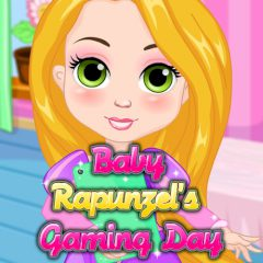 Baby Rapunzel's Gaming Day