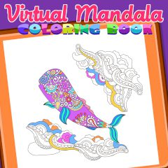 Virtual Mandala Coloring Book