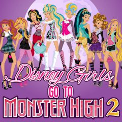 Disney Girls Go to Monster High 2