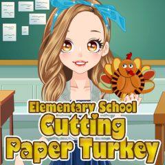 Elementary School: Cutting Paper Turkey