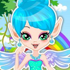 Rainbow Fairy Facial Makeover