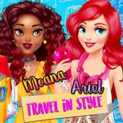Moana & Ariel Travel in Style