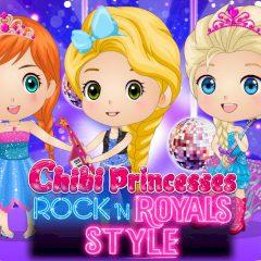 Chibi Princesses Rock'n'Royals Style
