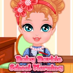 Baby Barbie School Morning