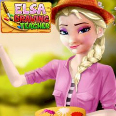 Elsa Drawing Teacher