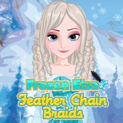 Frozen Elsa Feather Chain Braids