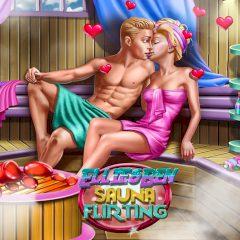 Ellie & Ben Sauna Flirting