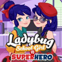 Ladybug School Girl vs Superhero