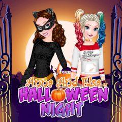 Anna and Elsa Halloween Night