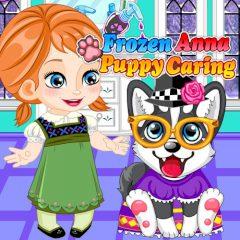Frozen Anna Puppy Caring