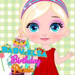 Baby Elsa Birthday Picnic