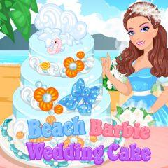 Barbie Beach Wedding Cake