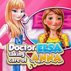 Doctor Elsa Taking Care of Anna