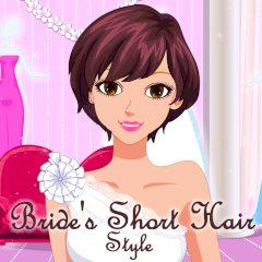 Bride's Short Hair Style